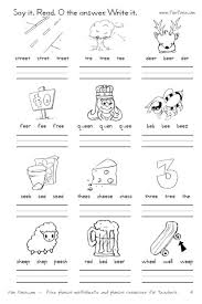 Phonics is a method of teaching kids to learn to read by helping them to match the sounds of letters, and groups of letters, to distinguish words. 22 Awesome Ee Vowel Team Worksheets Image Ideas Jaimie Bleck