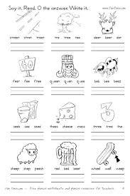 Phonics worksheets for kids including short vowel sounds and long vowel sounds for preschool and kindergarden. 22 Awesome Ee Vowel Team Worksheets Image Ideas Jaimie Bleck