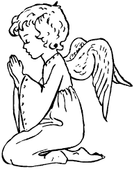 Small Picture Lovely Angel Coloring Page 63 For Picture Coloring Page with Angel