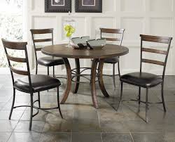 Metal And Wood Kitchen Table Round Wood Dining Table With Metal Acent Base By Hillsdale Wolf