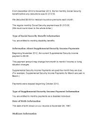 Social Security Benefits Verification Letter 002 All Star Activist