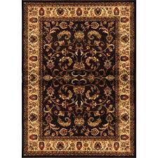 home dynamix royalty brown ivory 2 ft x 7 ft indoor area rug
