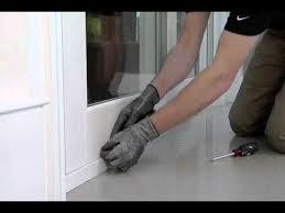 how to adjust sliding gl door rollers