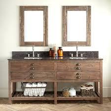 69 bathroom vanity wood vanities signature hardware reclaimed double for  rectangular sink gray wash pine