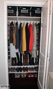 diy small closet organization ideas new coat closet makeover my blog simplychic