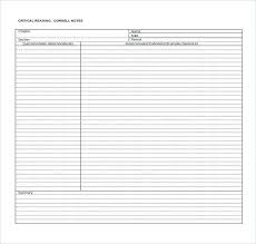 Notes Template Note Taking Impression Cornell Paper Avid Printable