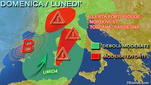 Maltempo Italia: allerta meteo Liguria, Piemonte, Toscana e Sardegna per  forti piogge « 3B Meteo