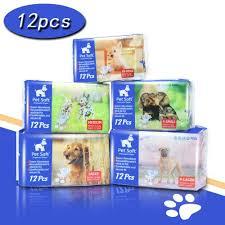 Amazon.com : Pet Soft Disposable Female Puppy Dog Diaper, 12Pcs, XXS Supplies 12Pcs
