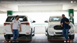 Video Comparison: Ford Endeavour vs Toyota Fortuner - Team-BHP
