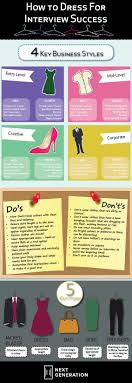 how to dress for interview success next generation how to dress for interview success infographic