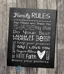 Faux Chalkboard Home Decor Family Rules Printable Subway Wall Art - INSTANT  DOWNLOAD on Etsy,