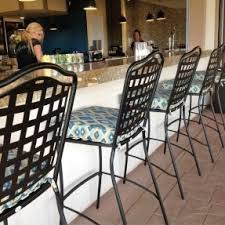 wrought iron bar chairs. Wrought Iron Bar Stools With Custom Cushions At Avensole Winery In Temecula, CA. Designed Chairs