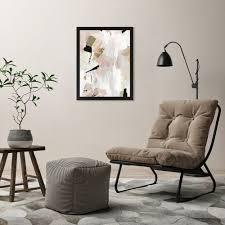 black rose gold i printed wall art