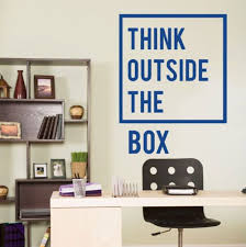 wall decal for office. Perfect Office Aliexpresscom  Buy Removable Inspirational Quotes Office Wall Decal Think  Outside The Box Sticker Home Decoration Mural A 86 From Reliable  And For O