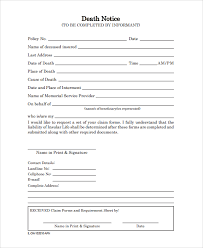Free Funeral Announcement Templates Awesome Funeral Notice Template