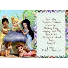 Tinkerbell Invitation Personalized Tinkerbell Party Invitations Thank You Cards