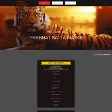 Prabhatsattamatka Com At Wi Welcome To Prabhat World