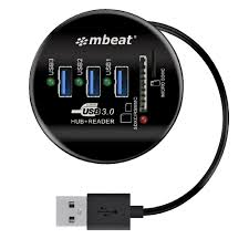 mbeat 3 port usb 3 0 hub and card reader
