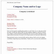 Letterhead Business Letter Business Letter Block Format With Letterhead 8 Format For Business