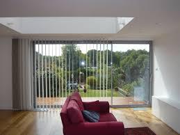 sliding patio doors one way vertical blind