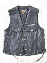 harley davidson made in usa thick leather vest piston mens xl 3xl 16 for