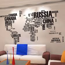 creative office wall art. Brilliant Wall Creative Words World Map Vinyl Wall Art Office Home Decor Stickers  Useful Study Wallposter For Kids Room Decorative Paperin From  I