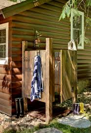 rustic shower curtains patio rustic with wood siding outdoor shower log cabin