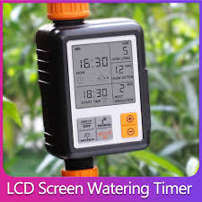 <b>New Automatic Watering Timer</b> Electronic Big LCD Screen Sprinkler ...
