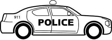 police car clipart black and white. Brilliant White Clipart  Police Car Vector Black And White Library With Black And White O