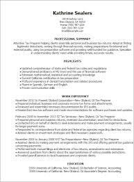 1 Tax Preparer Resume Templates Try Them Now Myperfectresume