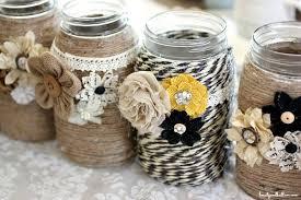 DIY Embellished Glass Mason Jars