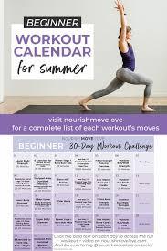 5 Day Workout Chart Beginner Workout Plan 30 Day Workout Calendar Nourish