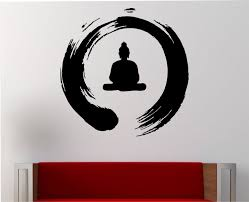 Small Picture Zen Circle with Buddha Wall Decal Vinyl Sticker Art Decor Bedroom