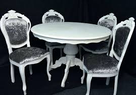 white gloss table 4 chairs kingston round dining with bewley oatmeal home quattro shabby chic antique furnit