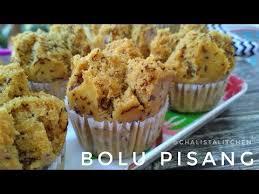 Bolu Pisang Mekar No Telur No Mixer Banana Cake Eggless Youtube