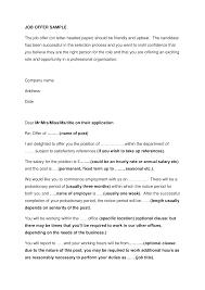 Job Offer Sample Letter Templates At Allbusinesstemplates
