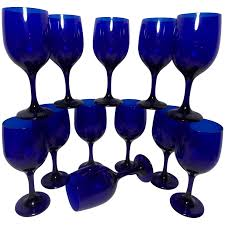 vintage libbey cobalt blue wine glasses to expand