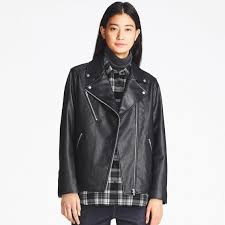 women faux leather riders jacket