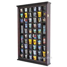 tupperware shot glasses 56 shot glass shooter display case holder cabinet wall rack with door
