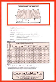 C Purlin Span Chart Onyx Industries Fzc Steel Fabrication Profile Division