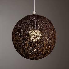 round hand woven rattan vine ball pendant lampshade