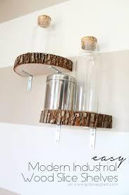 diy shelves and do it yourself shelving ideas modern industrial wood slice shelf easy