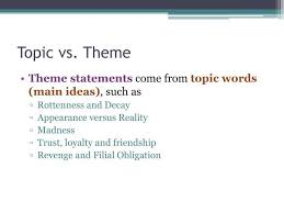 ppt theme statements powerpoint presentation id  topic vs theme