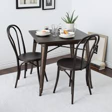 vintage metal dining chairs. Brilliant Chairs Cafe Dark Vintage Metal Dining Chairs Set Of 2 With T
