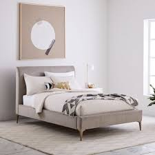 metal upholstered bed.  Metal Scroll To Previous Item In Metal Upholstered Bed