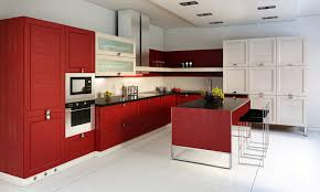 red and white kitchen images