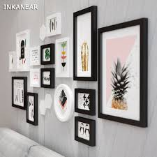 Office Photo Frame Design Us 103 54 39 Off Large Size Photo Frames Modern Pineapple Office Store Home Wall Decoration Wood Painting Pictures Frame Set Hf9294 In Frame From