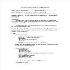 Demonstration Speech Outline 2 How To Write A Demonstration Speech Outline Pdf Free