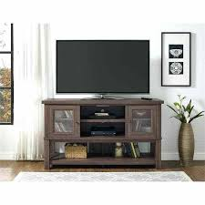 avenue stand with glass doors for s up to inches entertainment center baby proof