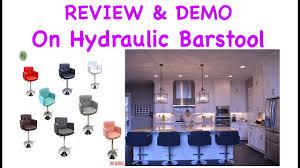 hydraulic bar stools. Review \u0026 Install On Hydraulic Bar Stool 503-908-1568 Stools